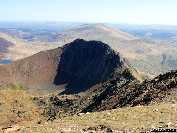 A photo of Crib Goch from Crib Ddysgl